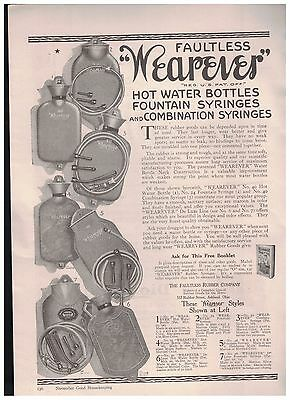 1916 Wearever Hot Water Bottles Fountain Syringes & Combination Syringes Ad
