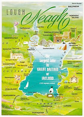 Lough Neagh Postcard - Largest Body of Freshwater in UK or Ireland -Hinde 2NI493