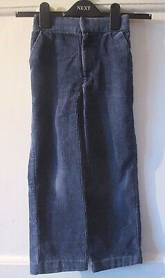 Boys BHS  vintage  blue corduroy  cord  Trousers  Age 6 ~ Height 116cm