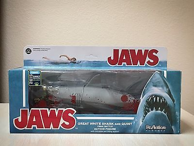 Funko ReAction Jaws Great White Shark And Quint Bloody Exclusive SDCC Exclusive