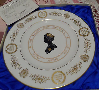 Coalport Limited Edition, The Queen's Plate, Silver Jubilee