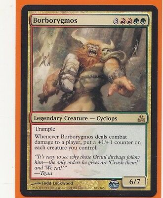 MTG 1 x BORBORYGMOS Guildpact  Rare Gold card  Legendary Creature  Never played