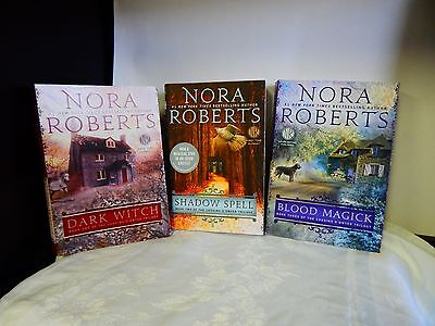 Nora Roberts~ The Cousins O'Dwyer Trilogy ~ Dark Witch Blood Magick shadow spels