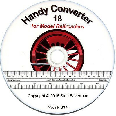 Model Railroad Software Tools - 1 Gauge and All Scales - Brand New! Version 18.4
