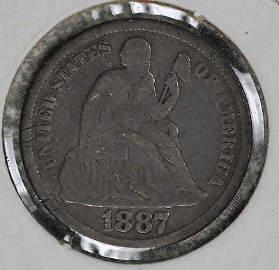 Nice Problem-Free 1887 Liberty Seated Dime
