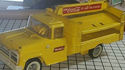 Coca cola Coke Buddy L Metal Truck Toy vintage yellow delivery