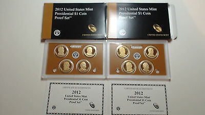 2012 Presidential Dollars Proof Set  with coa....multilisting