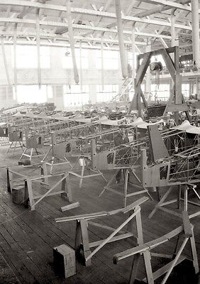 1922 photo Negative Boeing AIRPLANE Plant MB3 Plane EARLY AVIATION Rare RARE