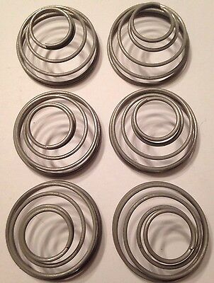 """.105"""" Stainless Steel Wire Conical Compression Spring Lot Of 6"""