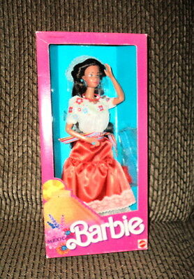 1988 Dolls Of The World Mexican Barbie Nrfb!