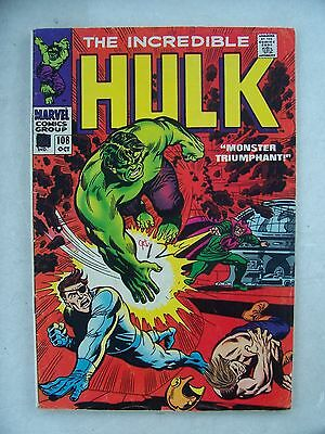 Incredible Hulk #108 Fine