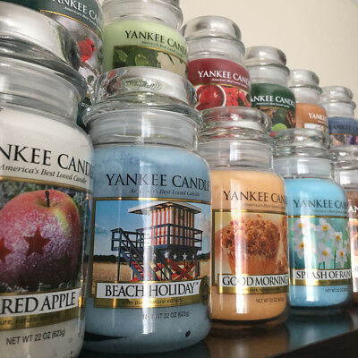 Yankee Candle ~ OCEAN GLASS ~ *Free Shipping* 22oz Large Jar