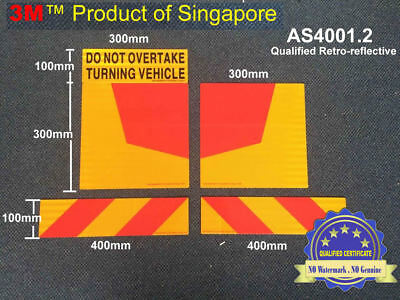 Do Not Overtake Turning Vehicle Stripe Traffic Sign Sticker Aluminium Reflective