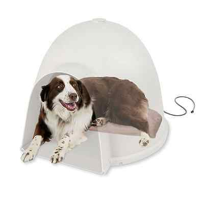 K&H Manufacturing Lectro-Soft Igloo Style Heated Dog Bed, Large, 17.5-Inch by 30
