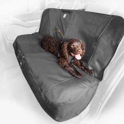 Kurgo Water Resistant Car Bench Seat Cover for Dogs, Charcoal Grey - Lifetime Wa