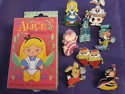Disney Parks Alice in Wonderland Mystery Box Collection Complete Set 8 Pins