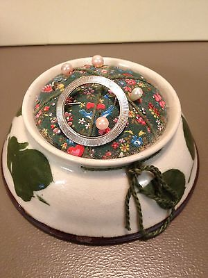 Sullivans Pottery Pin Cushion Handcrafted Top Only