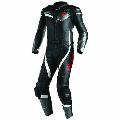 Genuine Dainese Veloster 2 PC Piece Leathers Motorcycle Race Suit - Black