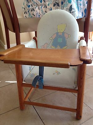 Retro Vintage Wooden Baby Low Chair Seat