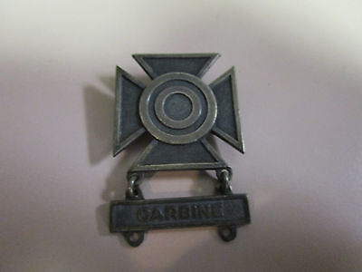 Us Army Sharpshooter Qualification Badge Insignia Pinback Carbine Sterling
