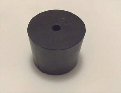 #6 Black Natural Rubber Laboratory Stoppers Size 6 1-hole STOPPER 4/pack RS-6H