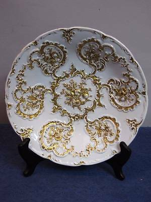 """Antique Meissen Gold Gilded Floral Bowl, 9 3/8"""", First Quality"""
