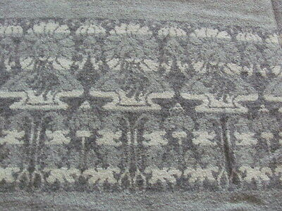 Antique gray wool white design tablecloth blanket throw ?