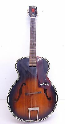1960's Vintage Harmony Monterey H-1325 Acoustic Archtop Guitar & Case