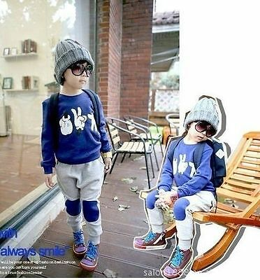 2017 New Baby Kids Finger Games Sport Tracksuits 2pcs Outfit Sets 5-6Years