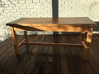 Vintage Hardwood Dining Table