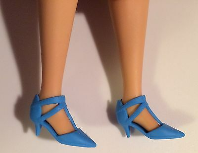 Mattel Barbie Doll BLUE LOW HEEL Shoes For Tall Curvy Fashionistas NEW