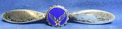 WWII Sterling Army Air Forces Propeller Home Front Sweetheart Pin