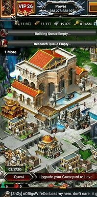 Game of war 1.2T Account.