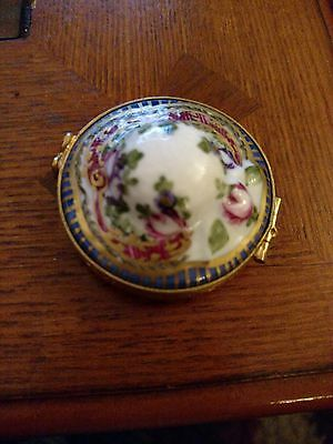 French Limoges signed pillbox