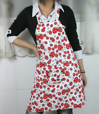 Ladies cute strawberry COOKing   apron