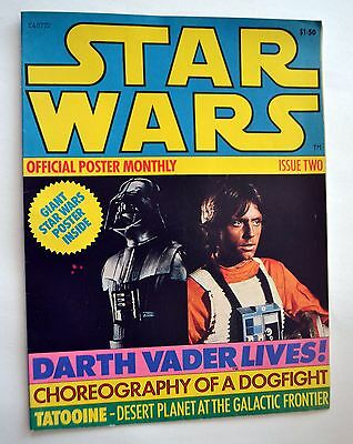 1977 Star Wars A New Hope Official Poster Monthly Issue 2 Magazine