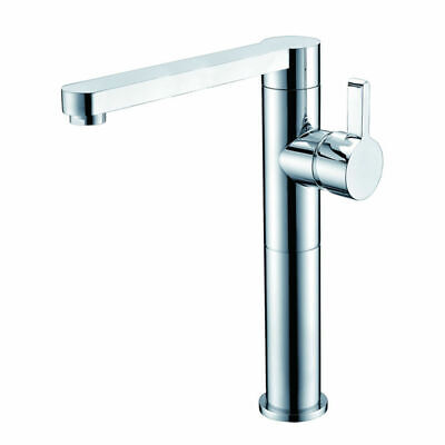Basin Mixer High Rise Swivel Spout Durable Tap Polished Chrome for Kitchen
