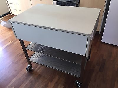 Kitchen Portable Island Bench (Stone)