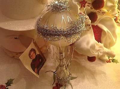 Bethany Lowe Christmas Silver Vintage Air Balloon  Ornament