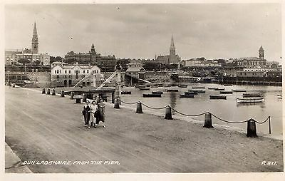 DUN LAOGHAIRE FROM THE PIER DUBLIN IRELAND RP IRISH POSTCARD by VALENTINES R871