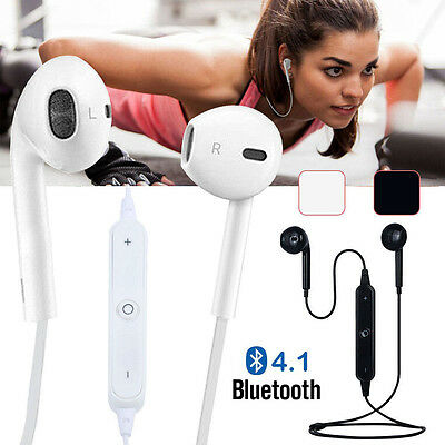 Wireless Bluetooth 4.1 Sports Headset Headphone Earphones Mic For iPhone Samsung