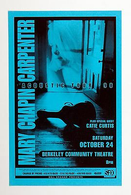 Mary Chapin Carpenter Poster 1999 Oct 24 Berkeley Community Center