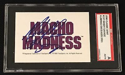 """Randy """"macho Man"""" Savage 1990 Classic Wwf Signed Autographed Card Sgc Authentic"""