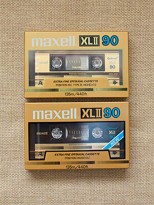 MAXELL XL II-90.(2) JAPAN SEALED AUDIO CASSETTE TAPEs. NEW. RARE. 1984-85'