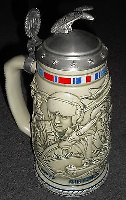 Vintage Tribute to the American Armed Forces Stein, unique, excellent condition!
