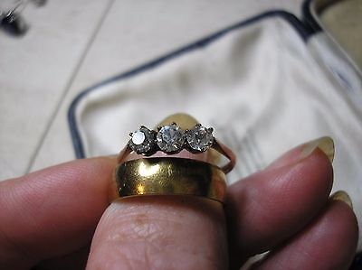 Rolled Gold Wedding And Rose Rolled Gold Engagement Ring