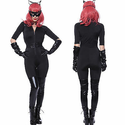 Carnevale Cosplay Costume Donna Travestimento Batwoman Catwoman Batman Catsuit