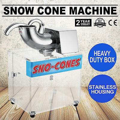 Snow Cone Machine Ice Blast Maker Shaved Commercial Crusher Concession HEAVY