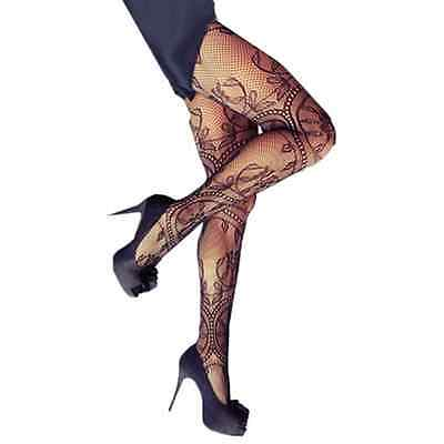 Lace Stockings Bow Frog Thigh-Highs Fishnet / Flower Hosiery Black Stylish Chic