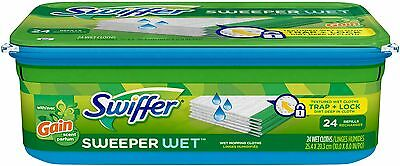 Swiffer Sweeper Wet Mopping Refills, Gain Original Scent , 24 count